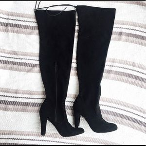 Target suede thigh high boots